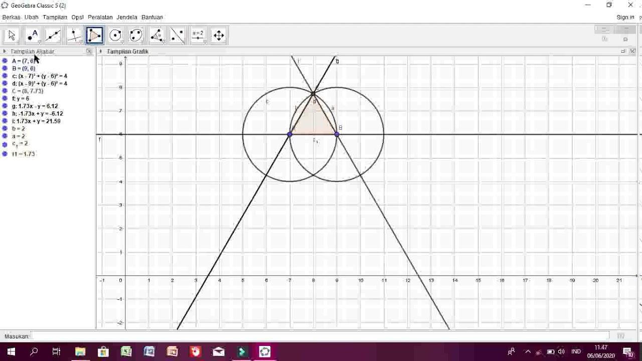 Tutorial Geogebra: 9. Segitiga (Cara Menggambar Segitiga)