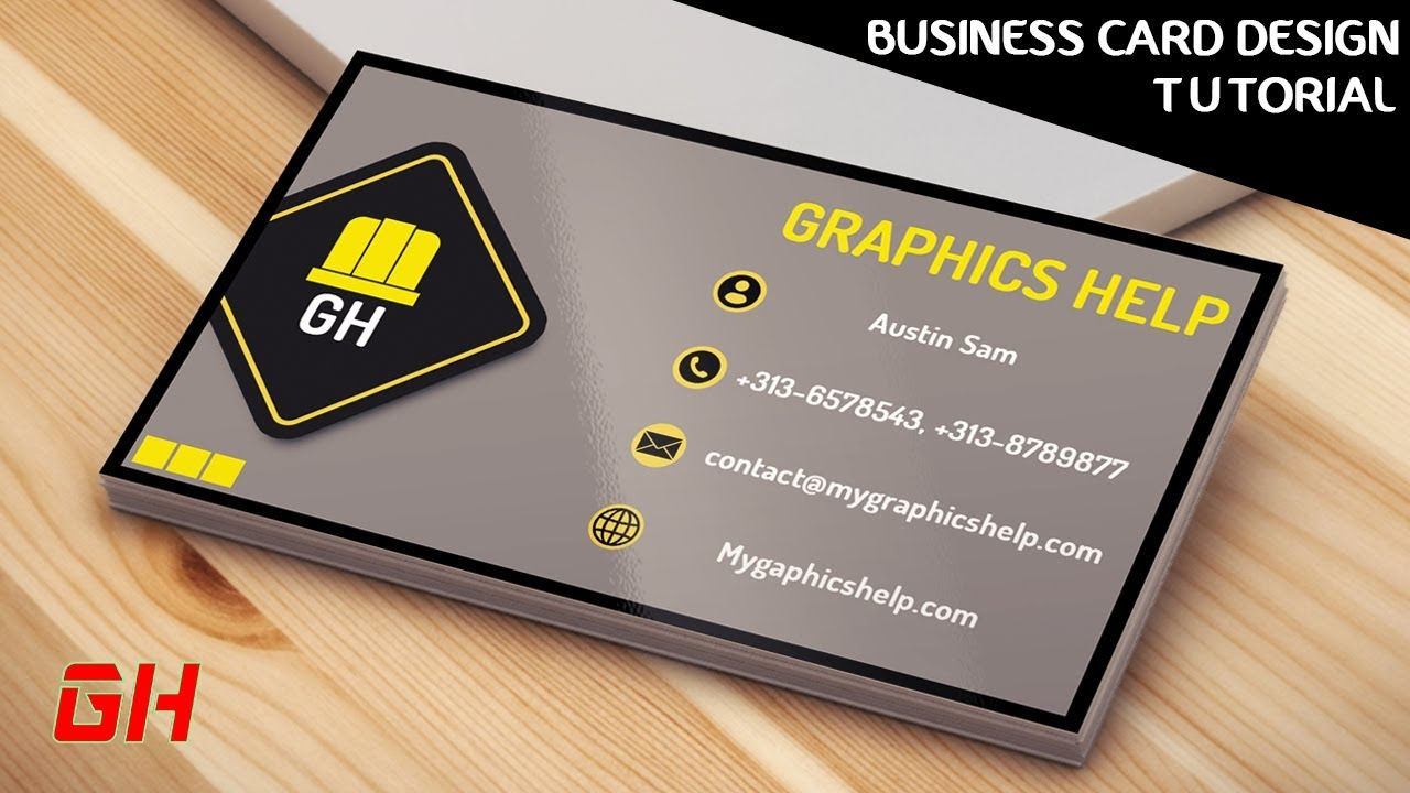 How To Make A Construction Business Card Using Photoshop PS Tutorial