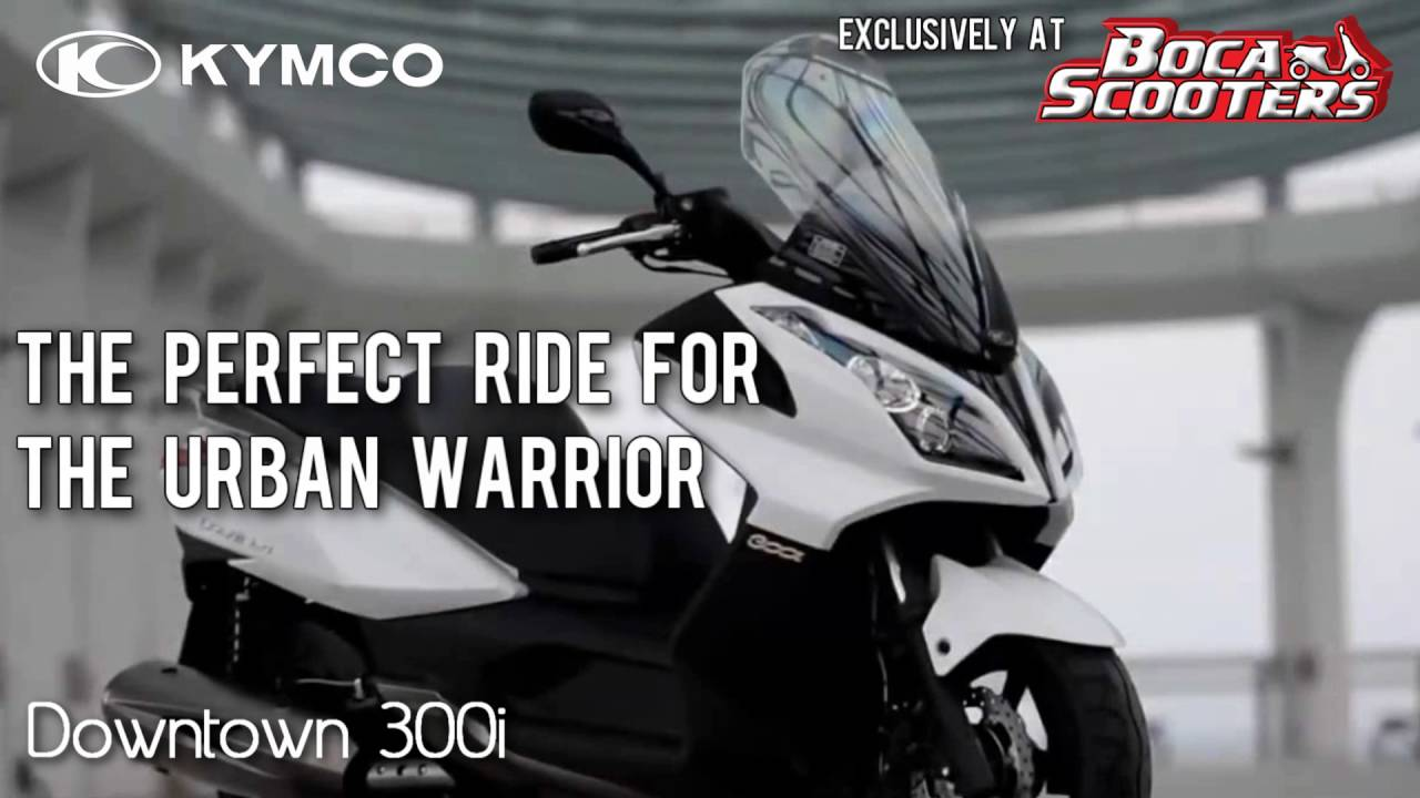2016 kymco downtown 300i scooter (overview & quick facts)boca