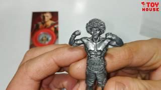 Железная фигурка Хабиб Нурмагомедов и сувенирная монета в подарок! Распаковка и обзор.