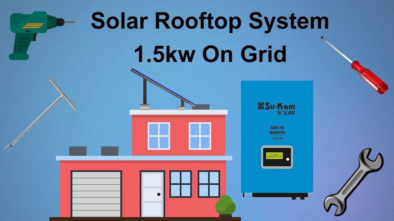 Solar Rooftop System 15kw On Grid Youtube Circuit 5000 Watt Power Inverter Schematic Tie Micro Gel