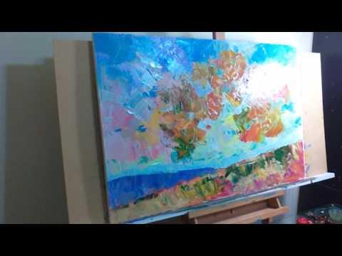 JOSE TRUJILLO Oil Painting Demonstration Impressionism Tree 001