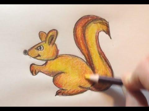 Verrassend Dieren Tekenen: teken een eekhoorn / how to draw a squirrel - YouTube OL-95
