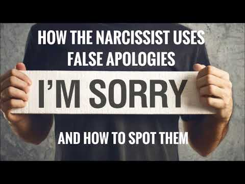 How The Narcissist Uses False Apologies And How To Spot Them - HD-4.Com