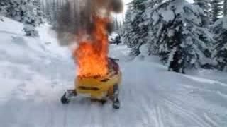 Burning Skidoo mxz