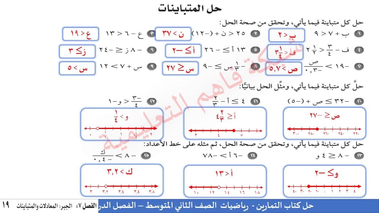 حل كتاب الرياضيات النشاط للصف ثاني متوسط