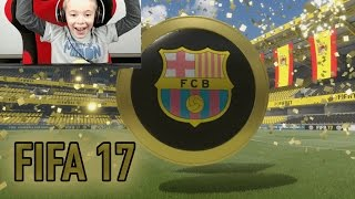 FIFA 17 MY FIRST WALK OUT IS BARCELONA PLAYER  ULTIMATE TEAM PACK OPENING