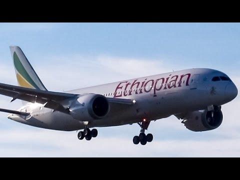 *Diversion* Ethiopian 787-8 (B788) landing & departing Montreal (YUL/CYUL)