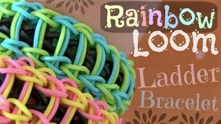 RAINBOW LOOM : Ladder Bracelet - How To | SoCraftastic