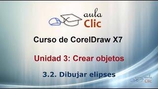 Curso de CorelDraw X7. 3.2. Dibujar elipse.