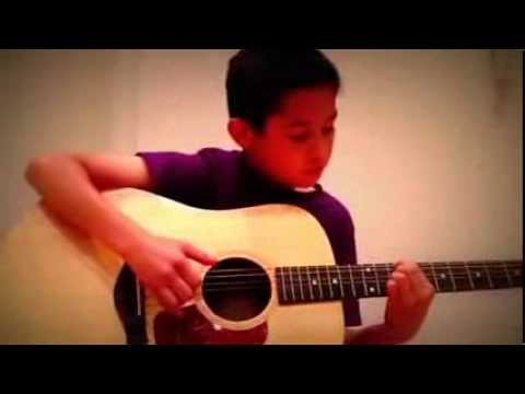 Caleb plays guitar cover for Tori Kelly's