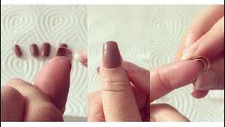 Künstliche Nägel Aufkleben
