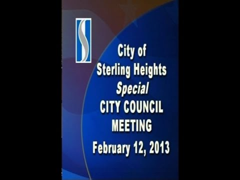 Sterling Heights City Council Meetings Special Session Full Meeting