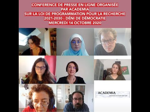 Conférence de presse Academia.