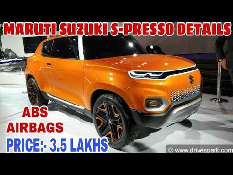 Maruti Suzuki S- Presso Launching on 30 September 2019- Prices, Features, Engine, Colour Options