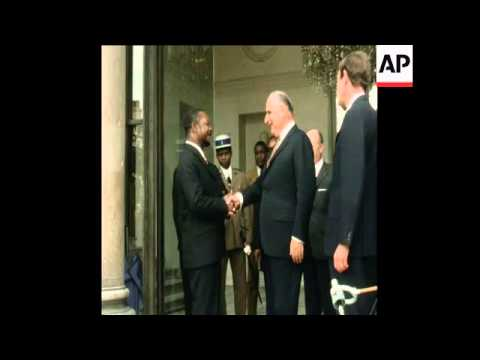 LIB 26-5-72 VISIT BY PRESIDENT OF CENTRAL AFRICAN REPUBLIC, GENERAL JEAN BOKASSA