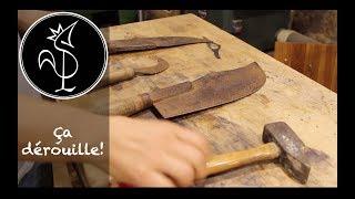 Restauration d'outils rouillés