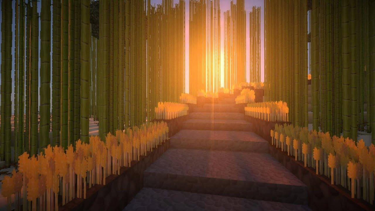 Minecraft Wonderful Earth Bambuswald In Kyoto Japan Youtube