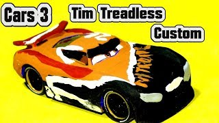 Cars 3 Tim Treadless Custom Next Gen from Danny Swervez and Miss Fritter and Primer Lighting McQueen