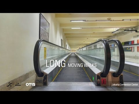 Long OTIS Moving Walks - Jakarta Convention Center, Jakarta, ID (Tunnel to Hotel)