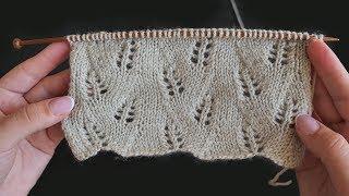 «Колоски» узор спицами | «Spikelets» knitting pattern