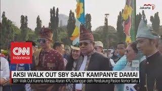 Aksi Walk Out SBY saat Deklarasi Kampanye Damai Pilpres 2019