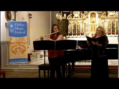 André Caplet, Ecoute, mon coeur - Janet Hopkins, mezzo-soprano  - Patricia Surman, flute