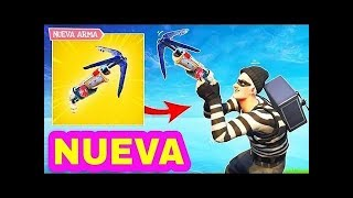"FORTNITE ""NEW GANCHO WEAPON"" LIVE WTF! + BALSA BOTIN DISAPPEARS!!! 