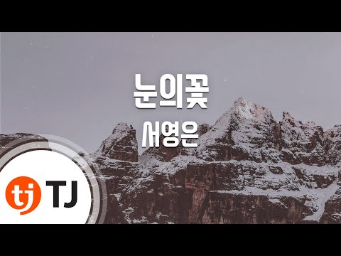 [TJ노래방] 눈의꽃 - 서영은 (snow flower - Seo YoungEun) / TJ Karaoke