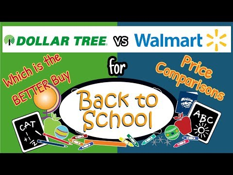 DOLLAR TREE Vs WALMART For Back To School Supplies | Price Comparisons