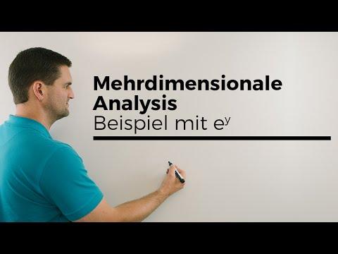 Mehrdimensionale Analysis, Beispiel mit e^y, Ableitung, Mehrdimensionale Differentialrechnung from YouTube · Duration:  3 minutes 51 seconds