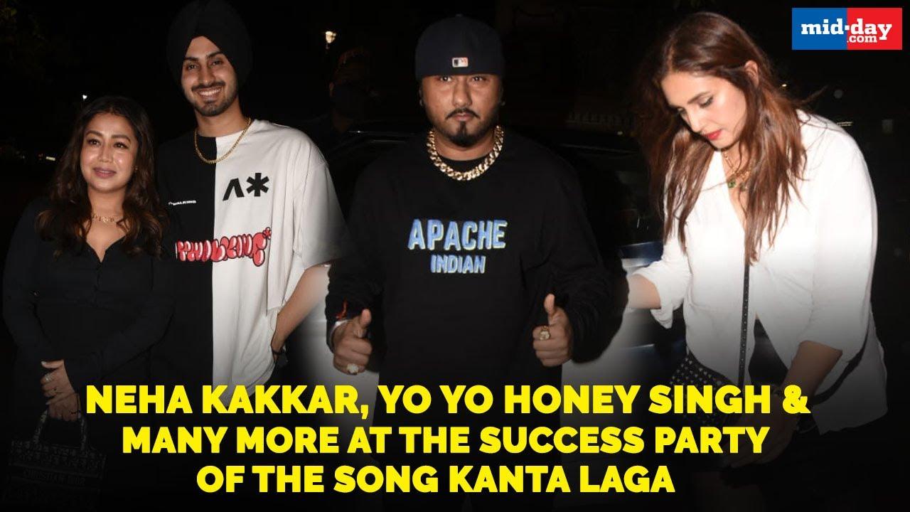 Neha Kakkar, Yo Yo Honey Singh and many more at the success party of the song Kanta Laga