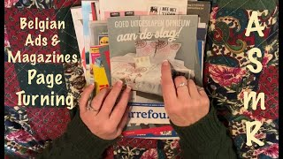 ASMR Magazine \u0026 Ads page turning (No talking) Mags \u0026 Ads from Subscriber in Belgium.