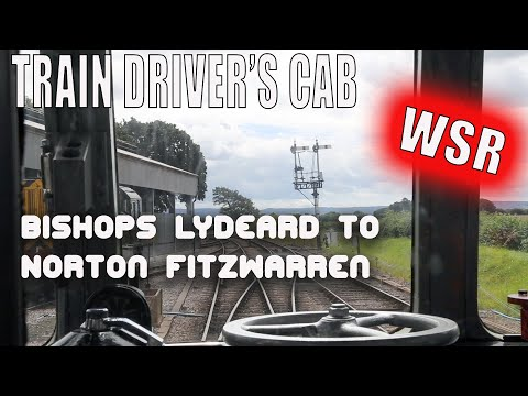Behind the driver's cab, diesel railcar from Bishops Lydeard to Norton Fitzwarren, WSR, UK