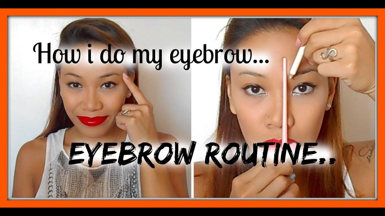 HOW I DO MY EYEBROW|EYEBROW ROUTINE|make-up tutorial|mich ...