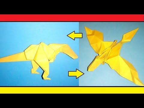 Origami Transformer : Dragon - T-Rex dinosaur / How to make