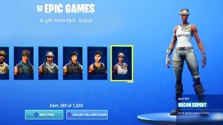 EVERYONE NOW GETS FREE SKINS in Fortnite..
