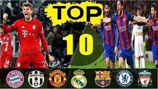 افضل 10 اهداف في نهائي دوري ابطال اوروبا