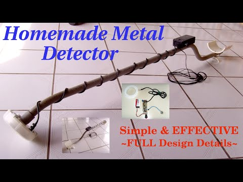 HOMEMADE METAL DETECTOR ~ Simple & Sensitive(Schematic)