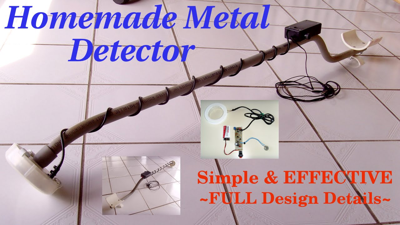 HOMEMADE METAL DETECTOR ~ Simple & Sensitive(Schematic) - YouTube