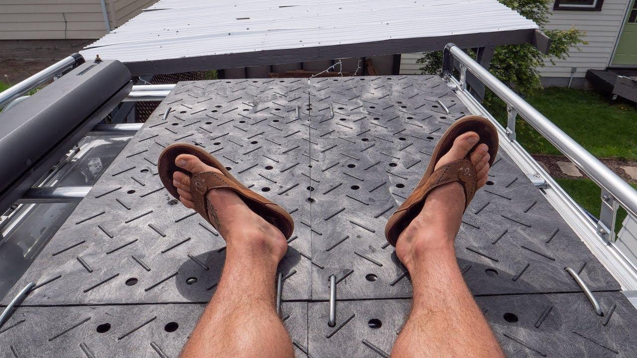 Sprinter Van Rooftop Deck Diy Platform For 25 Or Less Made From Plastic Pallets