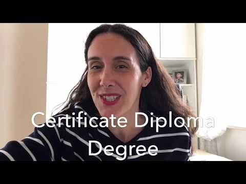 Certificate vs Diploma vs Degree