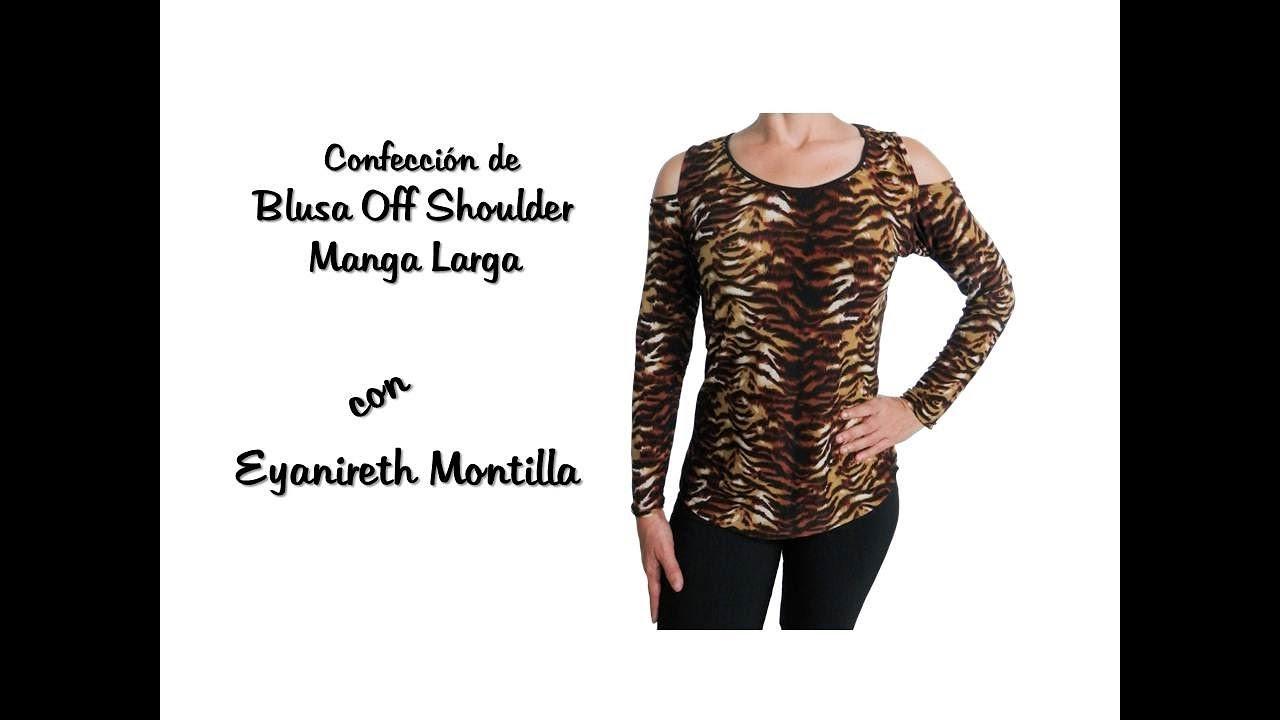f2911843f Confeccion de Blusa Off Shoulder Manga Larga. - YouTube