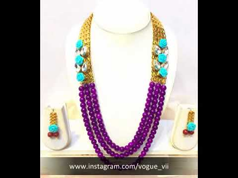 11cd47c2a Traditional Kundan Pearl Necklace Set s