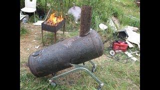 Rocket stove из газового баллона. Изготовление