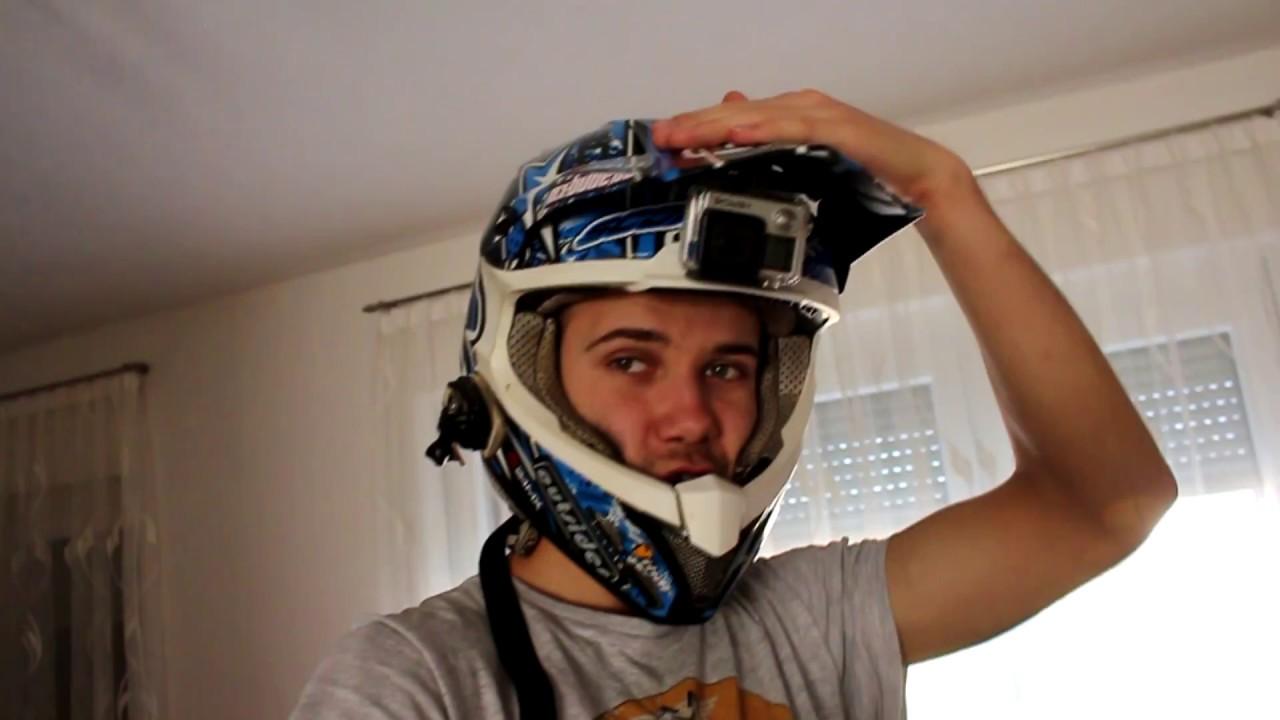 Dirt Bike Helmet With Visor >> GoPro Under Helmet Visor Mount - Graham Jarvis Style - YouTube