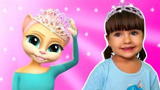 Арина играет в игру Моя Говорящая Кошка Эмма Балерина | Виртуальный питомец как Говорящая Анджела