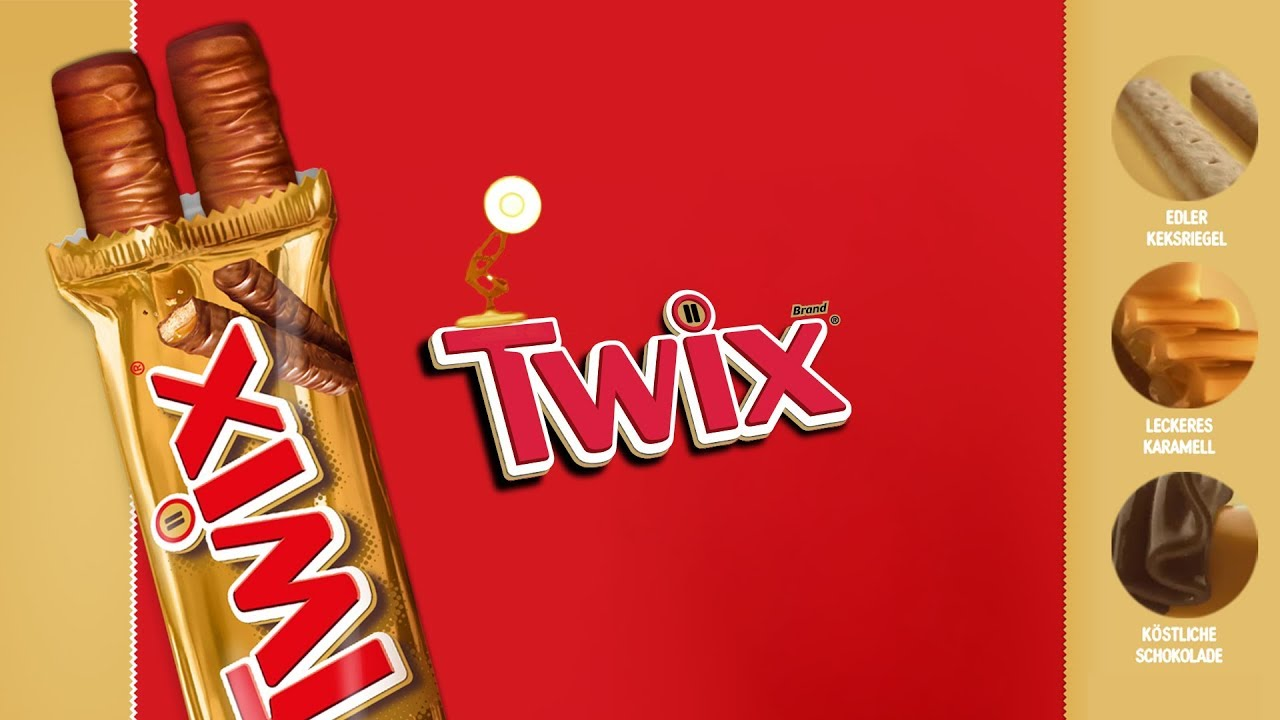 1207 Twix Chocolate Bar Spoof Pixar Lamps Luxo Jr Logo Youtube