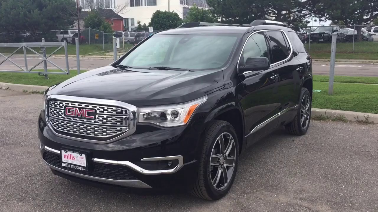 2017 Gmc Acadia Denali Awd Heated Steering Wheel Sunroof Black Oshawa On Stock 171753