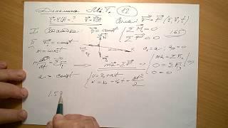 Как решать задачи по динамике материальной точки.